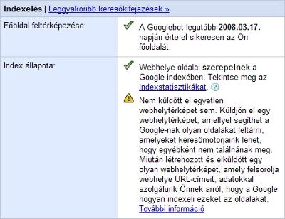 Google Webmaster Tools - Áttekintés