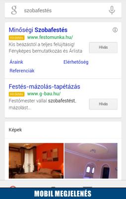 Google AdWords mobil hirdetései